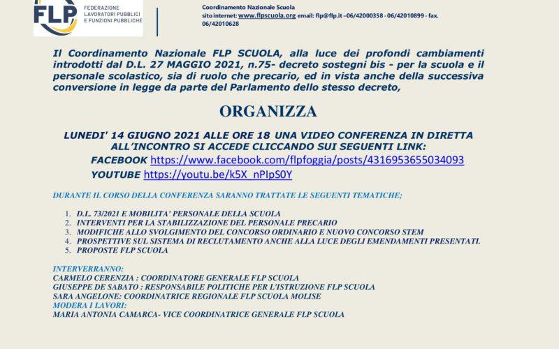 Video Conferenza In Diretta: Decreto Legge 73/2021